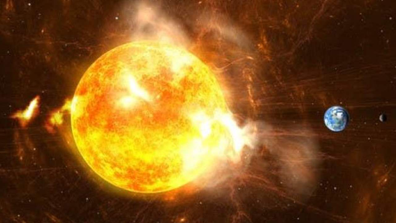 What is the truth of the solar explosion that caused the rise in the Earth's temperature?